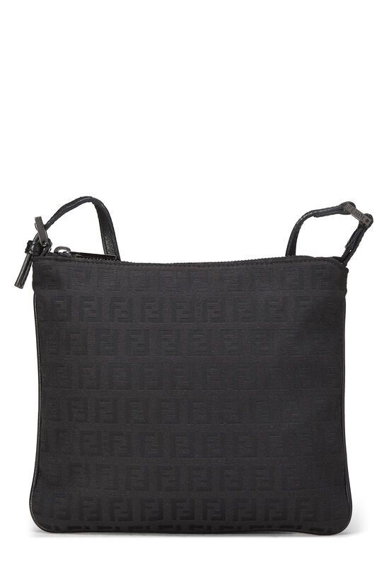 Black Zucchino Canvas Shoulder Bag Small, , large image number 0
