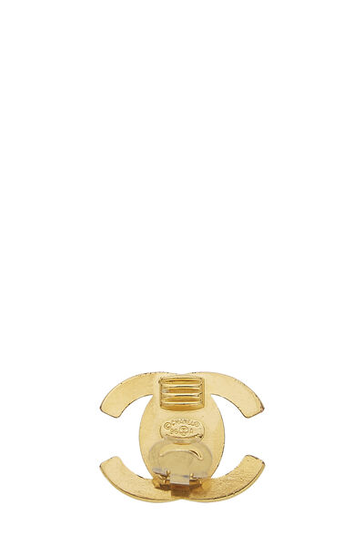 Gold 'CC' Turnlock Earrings Large, , large