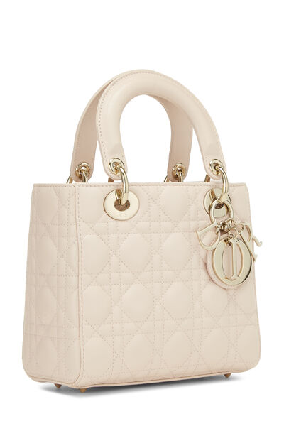 Pink Cannage Lambskin Lady Dior Small, , large