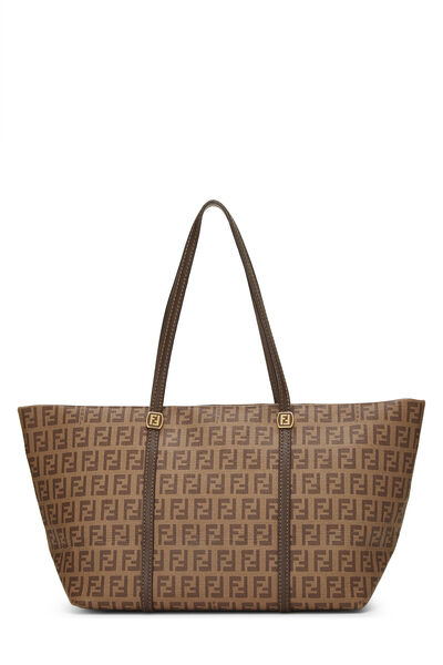 Brown Zucchino Coated Canvas Tote Small
