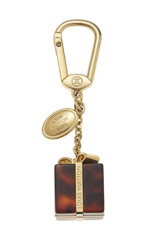 Gold & Tortoise Gift Box Key Holder, , large image number 0