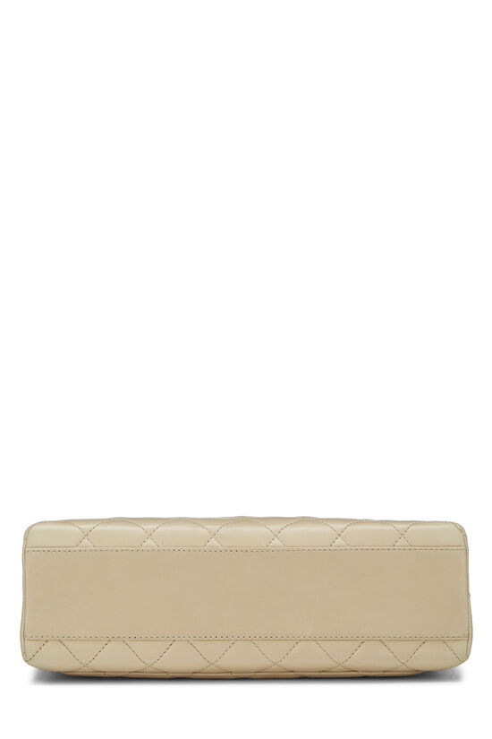 Beige Quilted Lambskin Kelly Medium, , large image number 4