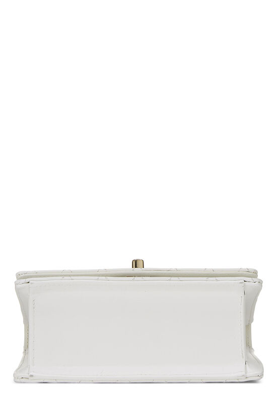 White Quilted Leather Shoulder Bag Small, , large image number 5