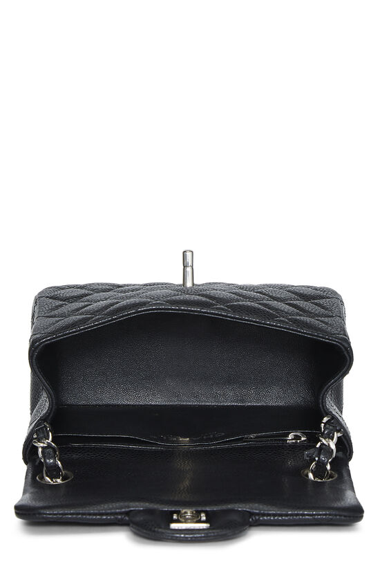 Black Quilted Lambskin Classic Square Flap Mini, , large image number 5