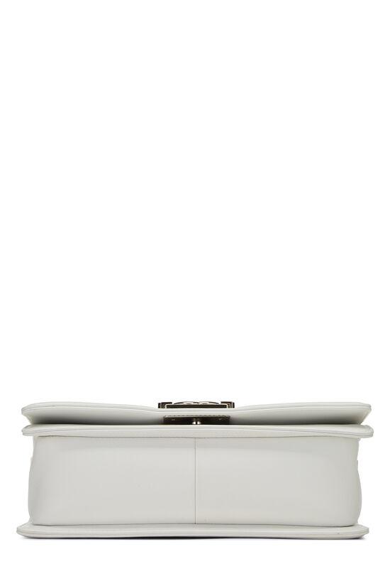 White & Multicolor Tweed Chevron Chain Boy Bag Medium, , large image number 5