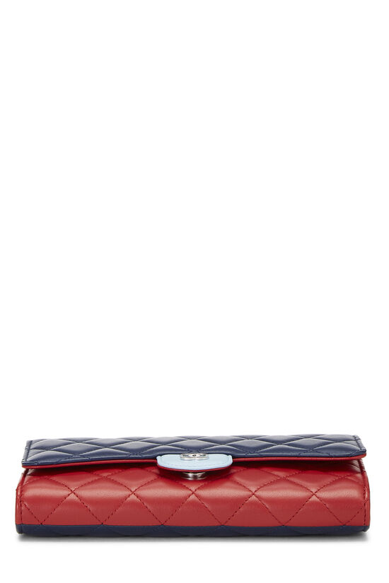 Red & Blue Quilted Lambskin Convertible Clutch, , large image number 4