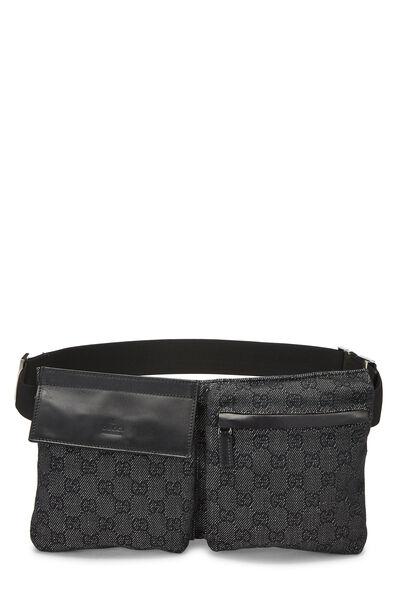 Black Original GG Canvas Belt Bag