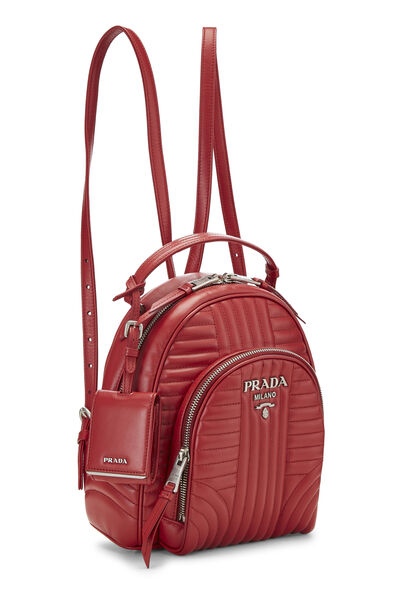 Red Calfskin Diagramme Backpack Small, , large