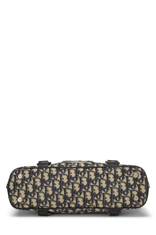 Navy Trotter Canvas Handbag, , large image number 4