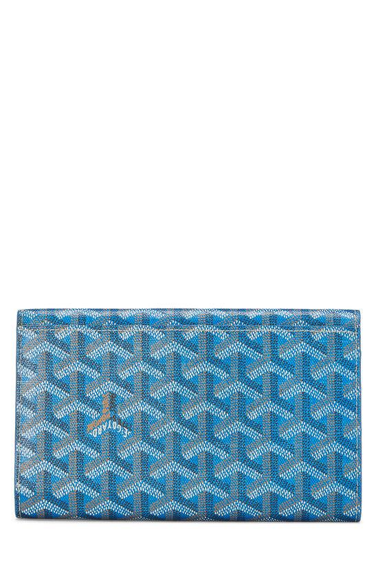 Blue Goyardine Canvas Flap Wallet, , large image number 2