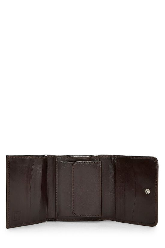 Brown Zucca Canvas Wallet, , large image number 3