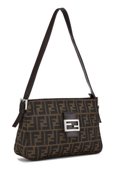 Brown Zucca Canvas Shoulder Bag, , large