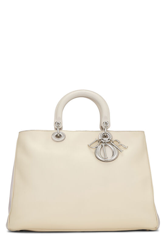 Cream Leather Diorissimo Large, , large image number 0