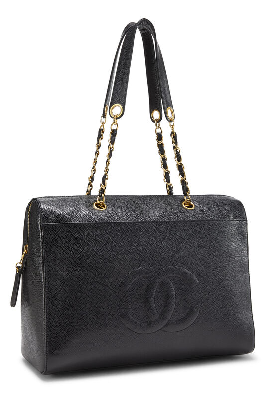 Black Caviar Zip Tote Small, , large image number 1