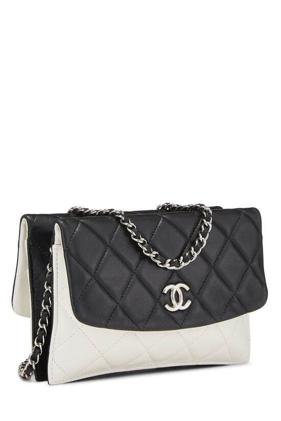 Black & White Quilted Lambskin Double Sided Wallet On Chain (WOC), , large image number 2