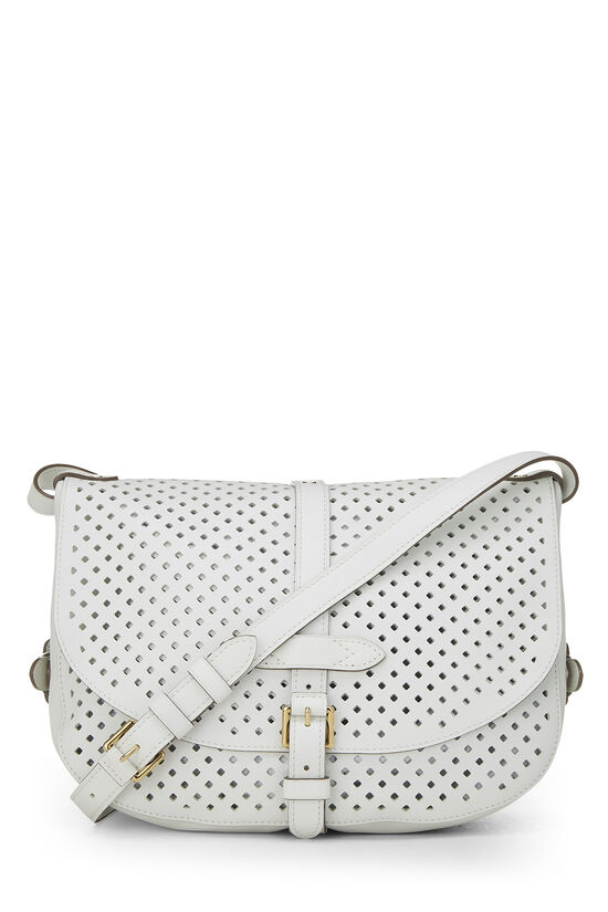 White Perforated Leather Saumur 30, , large image number 3