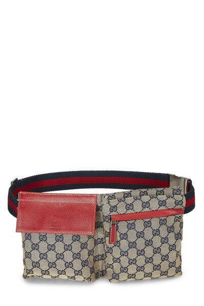Red & Navy GG Canvas Belt Bag