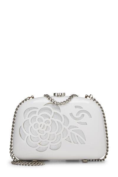 White Acrylic Camellia Minaudiere