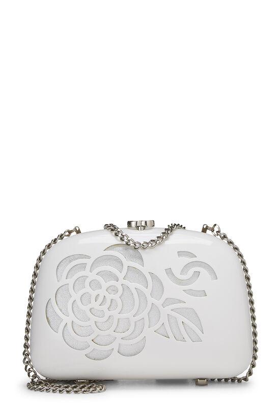 White Acrylic Camellia Minaudiere, , large image number 0