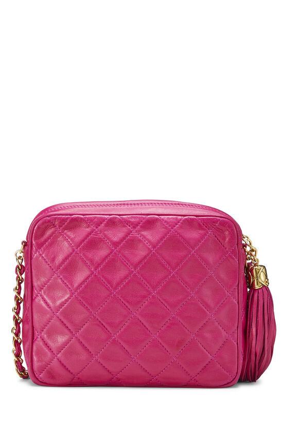 Pink Lambskin Diagonal Camera Bag Small, , large image number 3