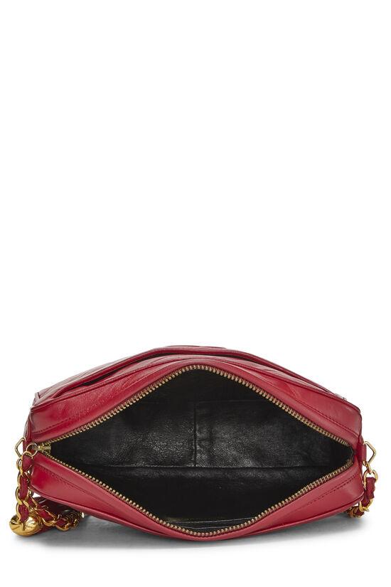 Red Quilted Lambskin Pocket Camera Bag Medium, , large image number 6