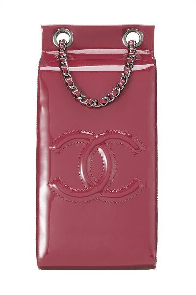 Pink Patent Leather Milk Carton Bag