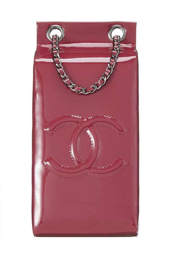Pink Patent Leather Milk Carton Bag, , large image number 0