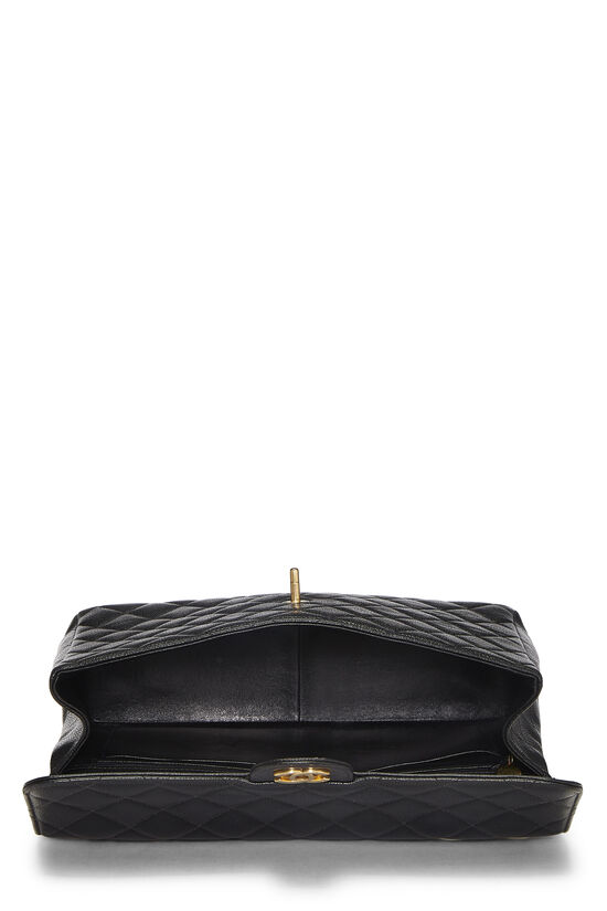 Black Quilted Caviar Half Flap Jumbo, , large image number 5
