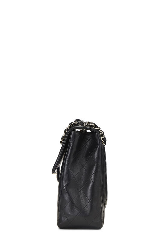 Black Quilted Lambskin Half Flap Jumbo, , large image number 2