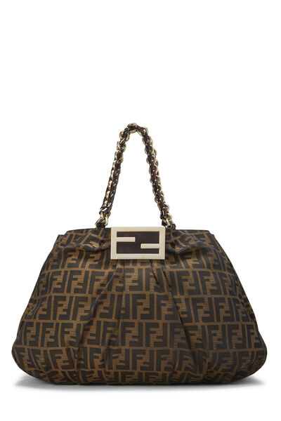 Brown Zucca Canvas Mia Hobo Large