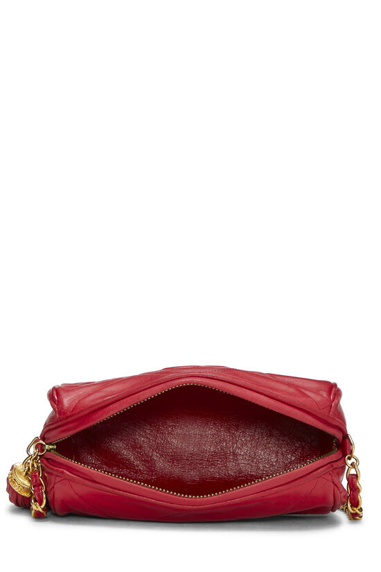 Red Quilted Lambskin Barrel Mini, , large image number 5