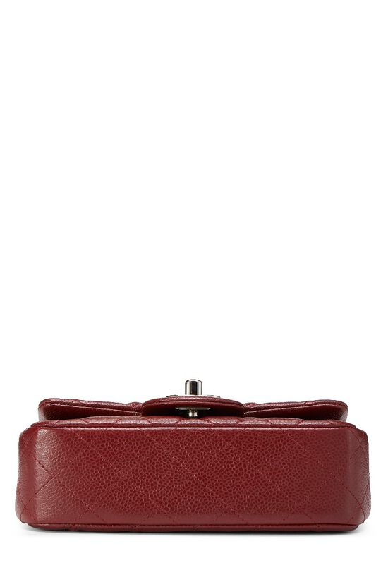 Burgundy Quilted Caviar Half Flap Mini, , large image number 4