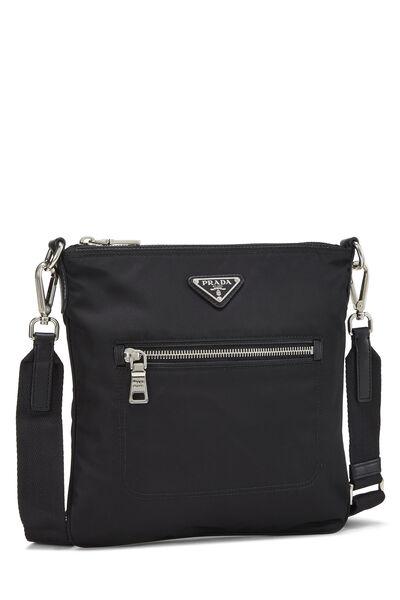 Black Tessuto Messenger Bag, , large