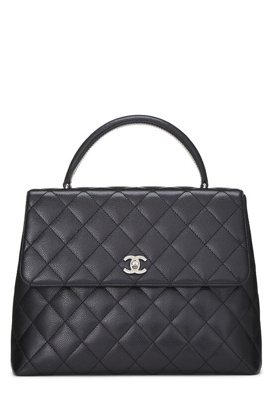 Black Quilted Caviar Kelly Jumbo, , large image number 0