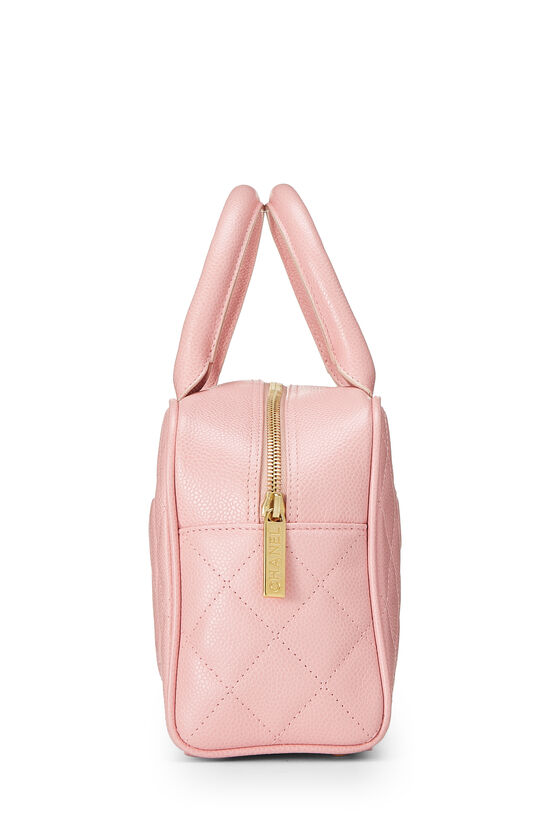 Pink Quilted Caviar Bowler Mini, , large image number 2