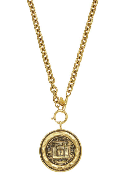 Gold Rue Cambon Necklace, , large