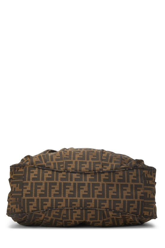 Brown Zucca Canvas Mia Hobo Large, , large image number 4