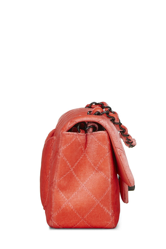 Coral Quilted Velvet Half Flap Small, , large image number 2