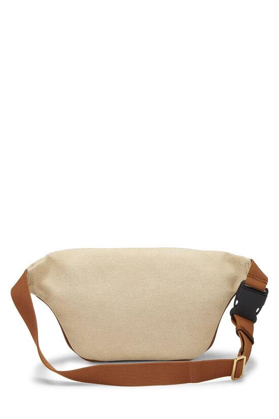 Beige Canvas Web Belt Bag, , large image number 3