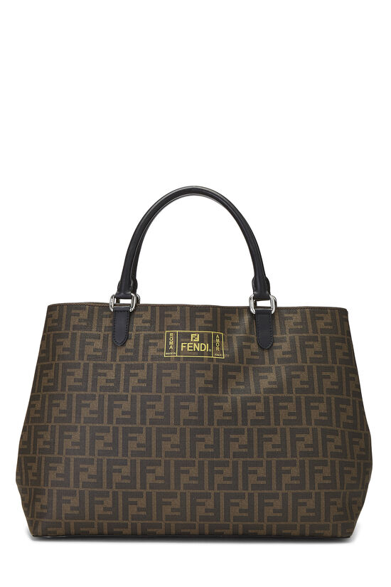 Brown Zucca Coated Canvas Roma Shopping Tote, , large image number 0