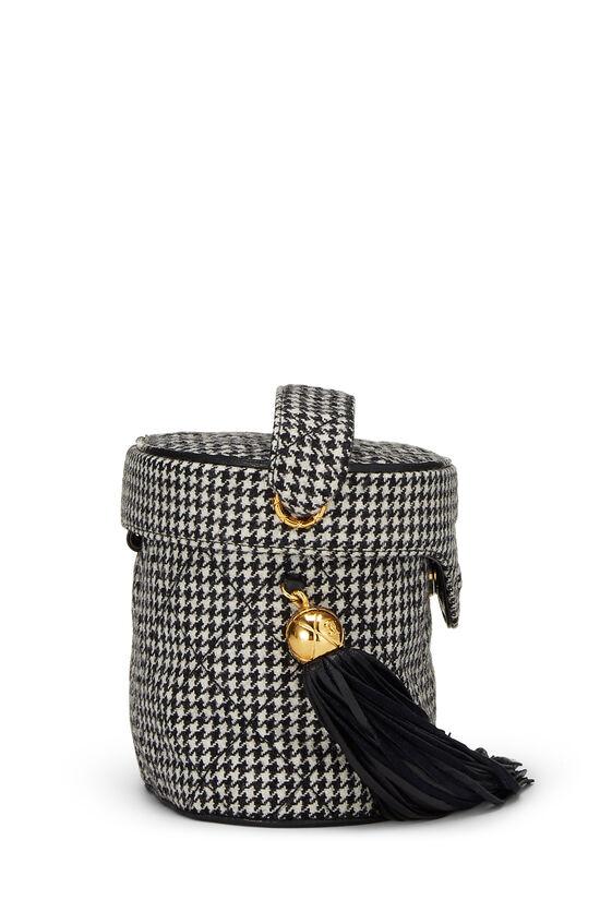 Black & White Wool Houndstooth Binocular Bag Small, , large image number 2