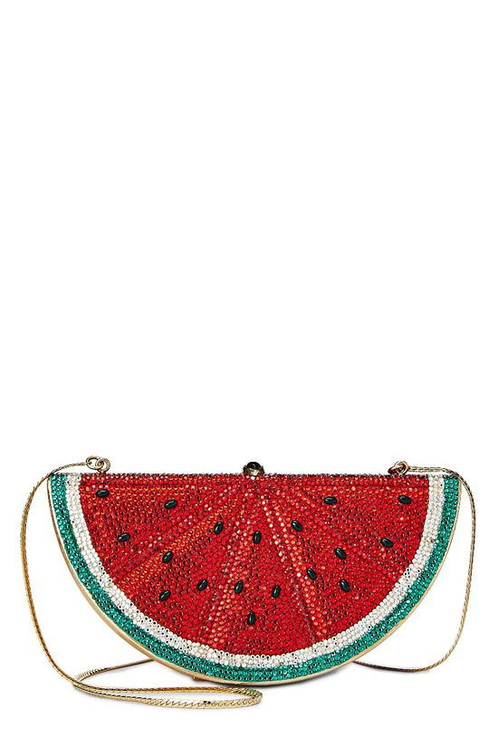 Red Crystal Watermelon Minaudiere, , large image number 0