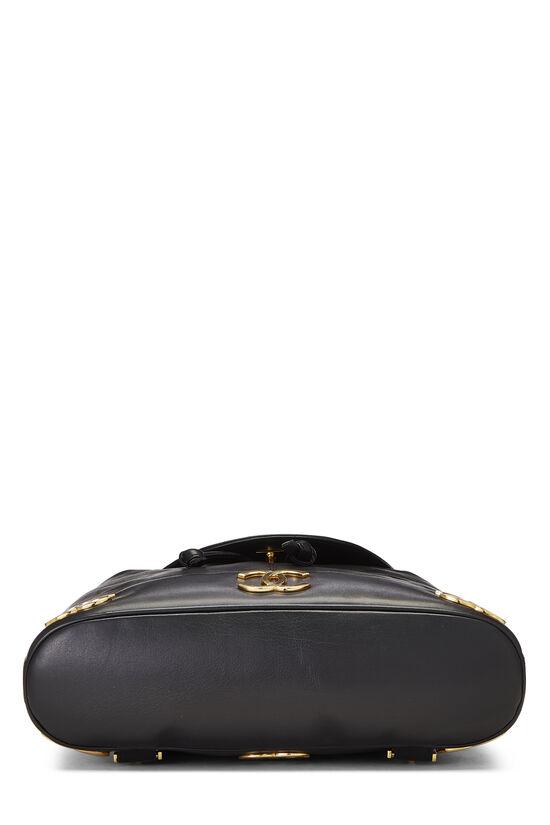 Black Lambskin 3 'CC' Backpack Large, , large image number 4