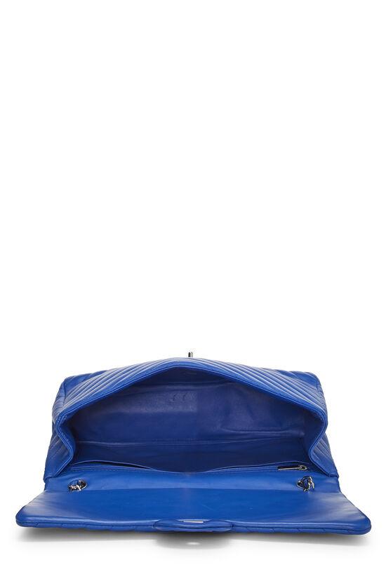 Blue Chevron Lambskin Full Flap Maxi, , large image number 5