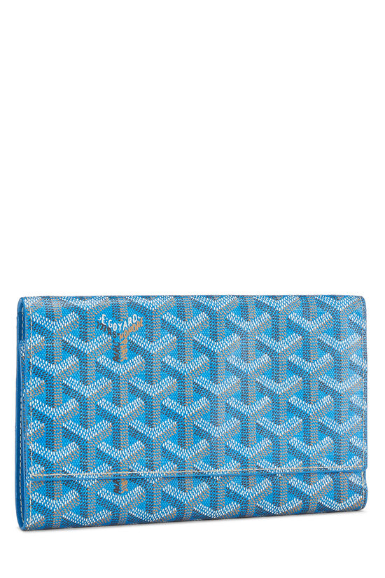 Blue Goyardine Canvas Flap Wallet, , large image number 1