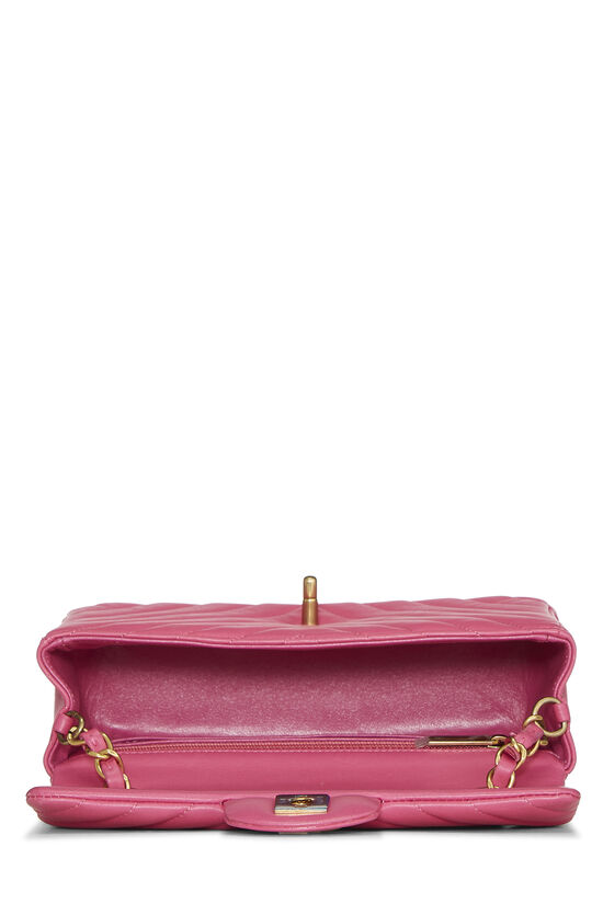 Pink Chevron Lambskin Classic Flap Mini, , large image number 5