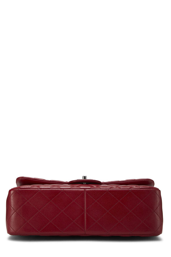 Red Quilted Caviar New Classic Flap Jumbo, , large image number 4