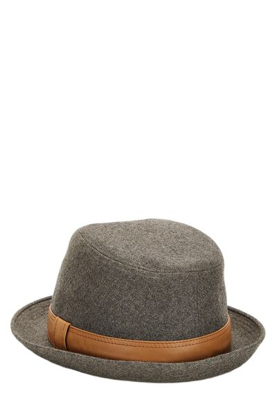 Grey Cashmere Funky Hat, , large