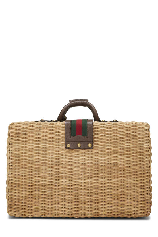 Natural Wicker Web Suitcase, , large image number 3