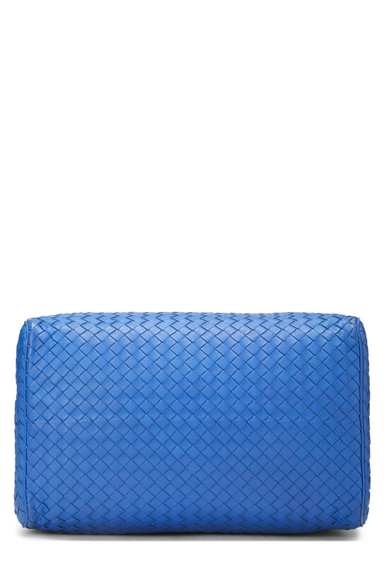 Blue Intrecciato Leather Boston, , large image number 5
